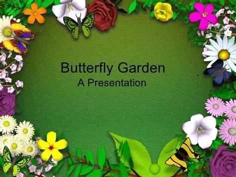 garden template butterfly garden blank template