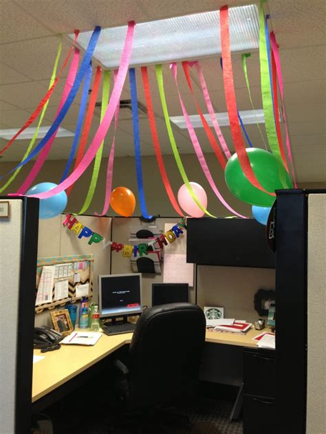 office cube birthday celebration my diy pinterest