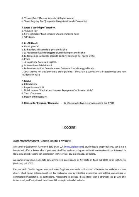Attestato Di Residenza Fiscale Soggetti Diversi Dalle Persone Fisiche by Seminario Formativo Inghilterra