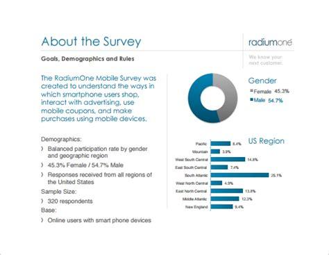 survey report templates    sample
