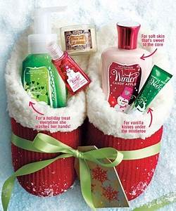 Good idea for Christmas Slippers filled with Bath and