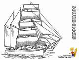 Ship Tall Coloring Pages Ships Sailing Rigged Boats Square Sky Yescoloring Templates Boys Template sketch template