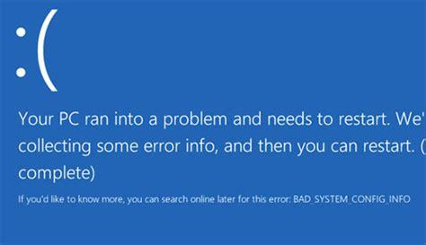 fix badsystemconfiginfo errors