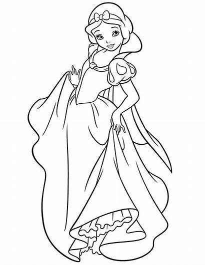 Coloring Snow Disney Pages Princess Malvorlagen Sheets
