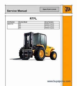Jcb 930 Forklift Service Manual