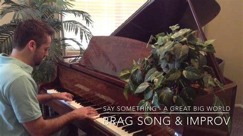 say something free piano sheet music a great big world youtube