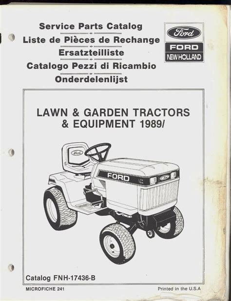 ford  holland lawn  garden tractor parts manual