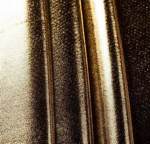 100% Polyester Foil Print Gold Fabric
