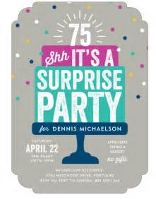 Surprise 75th Birthday Party Invitations