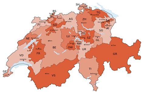 File:Schweizer Karte mit Kantons- und ...