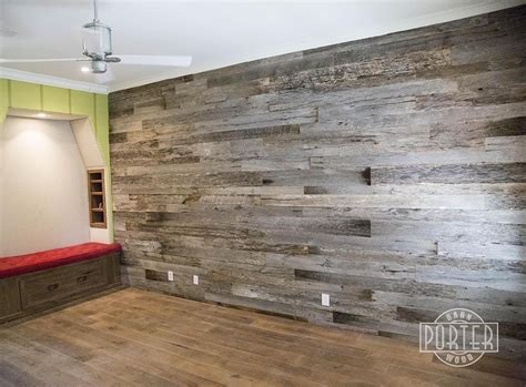 Wall Cover : Reclaimed Tobacco Barn Grey Wall Covering