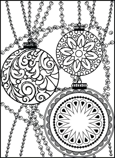 google printable christmas adult ornaments coloring coloring ornaments