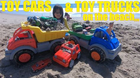 We Lost Many Toy Cars Because Of Ocean Waves! Toy Cars