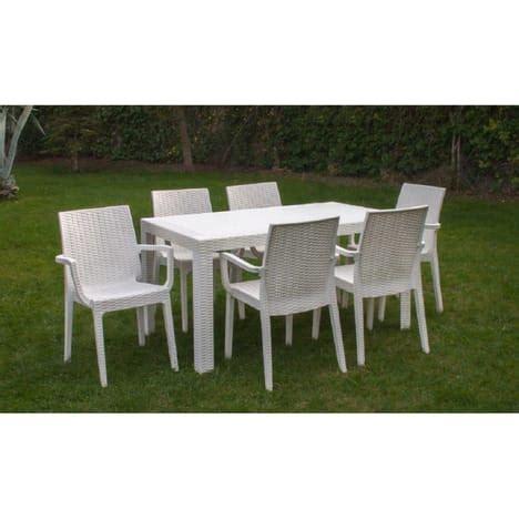 PACK PROMO Salon de jardin blanc 6 personnes URANO pas cher u00e0 prix Auchan