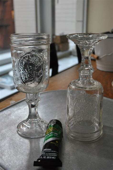 diy jar glasses mason jar wine glasses diy diy pinterest