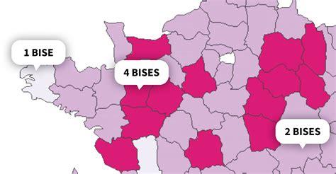 au sujet des départements français moments cette carte vous donne le nombre de bises à faire selon