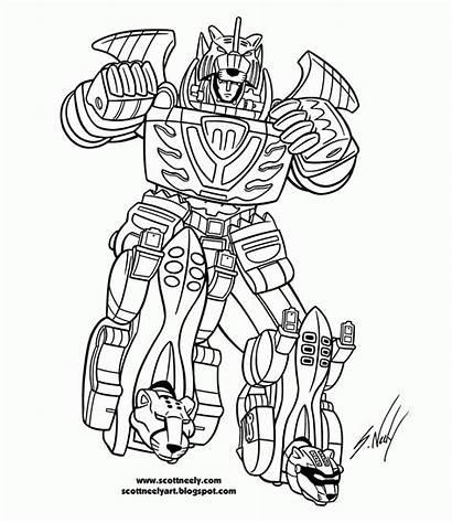 Rangers Coloring Power Ranger Fury Jungle Printable