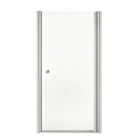 kohler fluence shower door kohler fluence 35 1 4 in x 65 1 2 in semi framed pivot 6685