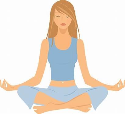 Yoga Clipart Breathing Meditation Transparent Meditate Relaxation