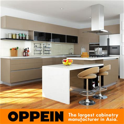 kitchen cabinets at prices oppein 2016 white and brown high gloss lacquer new model 7999