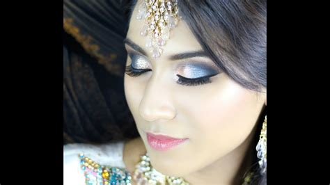 blue turquoise orange smokey eye walima bridal asian indian makeup tutorial youtube
