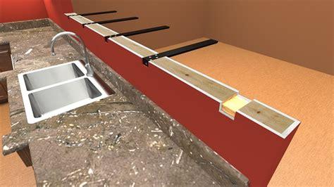 hidden countertop supports  brackets standard