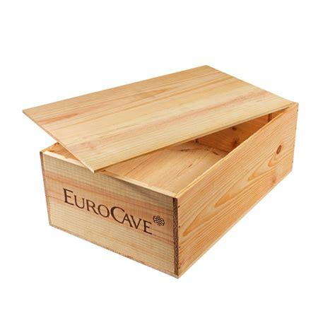caisse en bois pour le rangement de 12 bouteilles de vin
