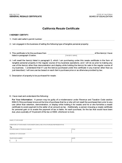 resale certificate form   templates   word
