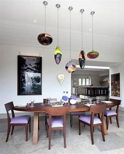 beautiful lustre salle a manger design photos design With table salle À manger ronde design pour deco cuisine