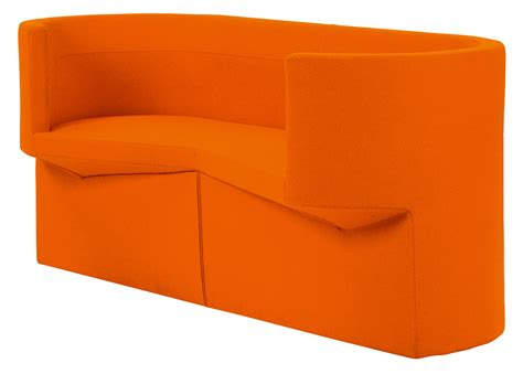canapé 2 places 160 cm canapé droit odin 2 places l 160 cm tissu orange