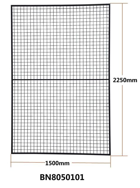 assembled pallet rack  guard square tube framed wire mesh panels