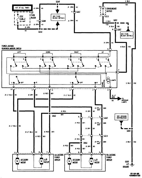 85 Silverado Radio Wiring Diagram by A 95 Suburban The Mirrors Only Work Going Want