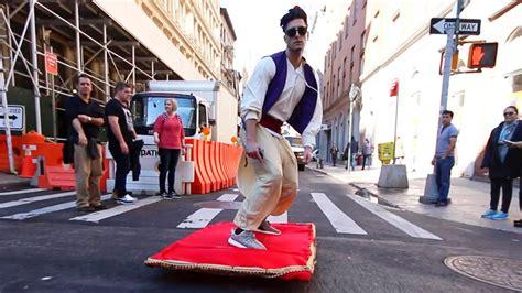 aladdin magic carpet ride prank   streets