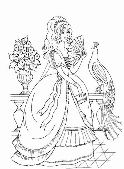 Coloring Fancy Princess Pages Printable Butterfly Mermaid