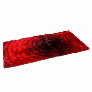 tapis shaggy rouge poil long 120x170 cm tap06056 pas cher With tapis a poils longs pas cher