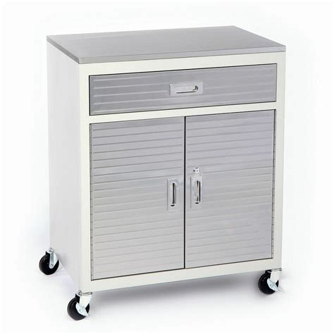 Stainless Steel Rolling Cabinet by New One Drawer Rolling Garage Metal Storage Cabinet Tool
