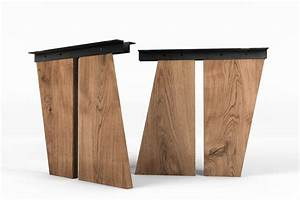 Falttüren Aus Holz Nach Maß : tischwangen aus holz schr g nach ma gefertigt tischgestelle tischbeine aus stahl und holz ~ Frokenaadalensverden.com Haus und Dekorationen
