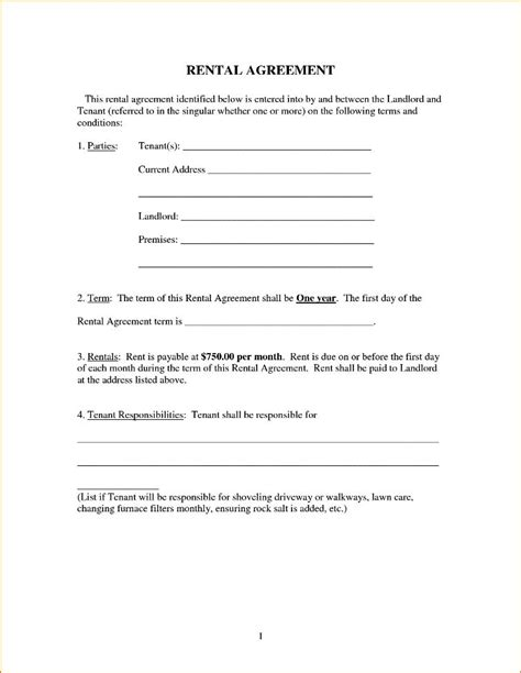 16899 simple agreement form simple lease agreement form pictures rental template