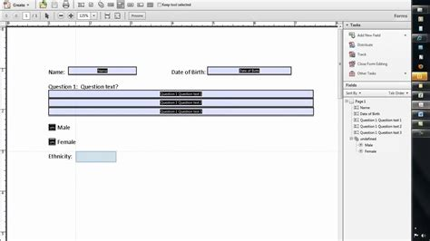 create  fillable form  word   adobe