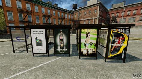 real advertising  bus stops  gta