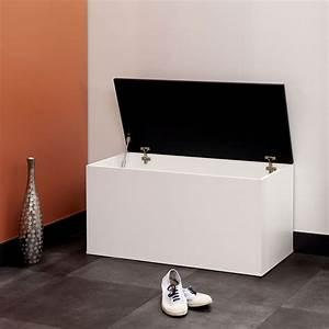 Meuble A Chaussure Banc : meuble chaussures banc coffre chaussures blanc noir banc coffre chaussures blanc noir ~ Preciouscoupons.com Idées de Décoration