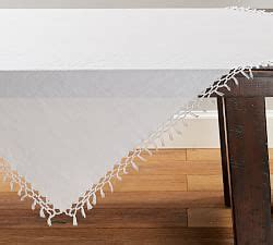sashi fringed table throw tablecloths table runners pottery barn