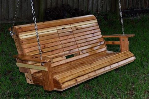 Wooden Porch Swings by Build A Wood Porch Swing With Cup Holders Diy Projects