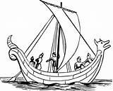 Boat Coloring Drawing Ship Sailing Viking Sail Anglo Sailboat Saxon Sea Ships Paddle Ocean Draw Drawings Clipart Clipartmag Children sketch template