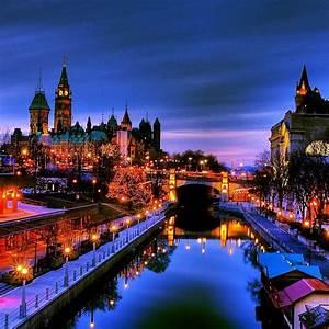 Stunning image taken in downtown Ottawa of the Rideau ...