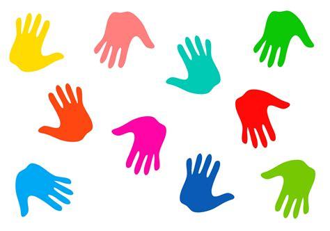 colourful handprints  stock photo public domain pictures