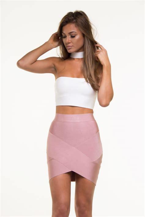 sleeve cutout top mini bandage skirt