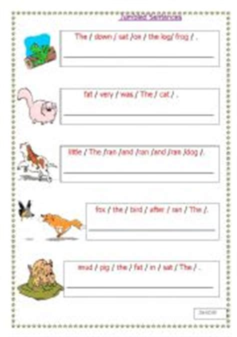 english worksheets jumbled sentences