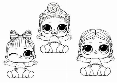 Lol Dolls Coloring Surprise Happy Printable Doll