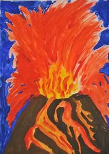 Warme Und Kalte Farben : malerei kalt warm kalte und warme farben vulkanausbruch schulkunst archiv baden w rttemberg ~ Markanthonyermac.com Haus und Dekorationen
